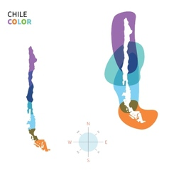 Abstract color map of chile vector