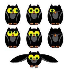 Owl set vector