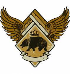 Bear kink army vector