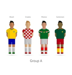 Football teams group a - brazil croatia mexico vector