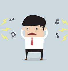 Businessman with noise vector