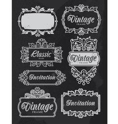 Vintage chalkboard banners vector