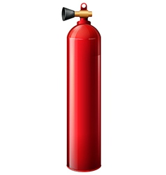 A red oxygen tank vector