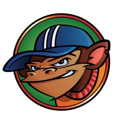 Cool monkey with cap vector