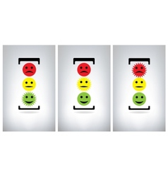 Traffic lights isolated on grey background vector