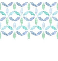 Abstract textile blue green leaves horizontal vector