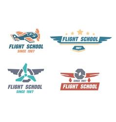 Flight school emblems vector