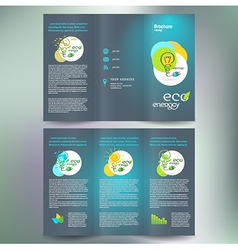 Eco energy alternative brochure folder leaflet vector