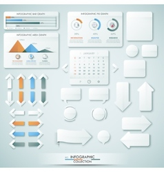 Big infographic collection vector