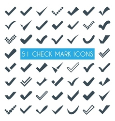 Set of different check marks or ticks vector