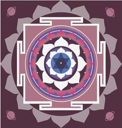 Spring yantra of saturn vector