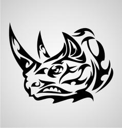 Rhino head tribal vector