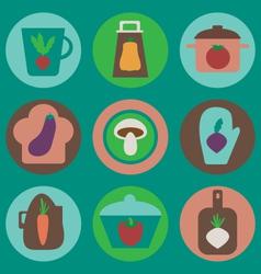 Kitchen icons set vector