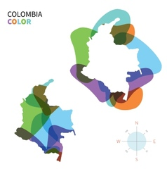 Abstract color map of colombia vector
