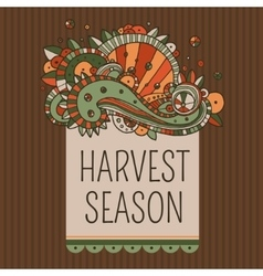 Harvest season label vector
