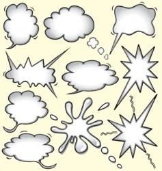 Comic book bomb vector
