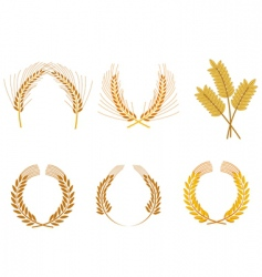 Cereal wreaths vector