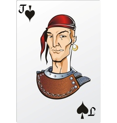 Jack of spade deck romantic graphics cards vector