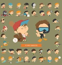 Set of 42 sport characters vector