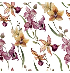 Beautiful orchid flower8 vector