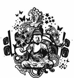 Buddha fantasy vector