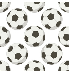 Soccer balls seamless background vector