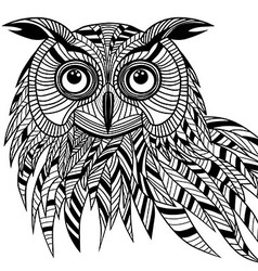 Owl bird head as halloween symbol vector