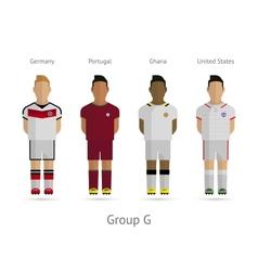 Football teams group g - germany portugal ghana vector