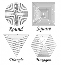 Mazes shapes vector