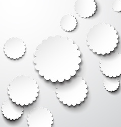 Paper white flower circles vector