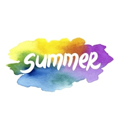 Summer holidays hand drawn lettering on a vector
