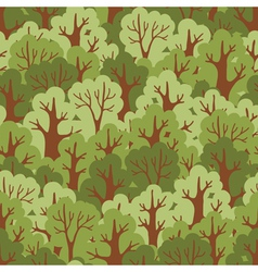 Green deciduous forest vector