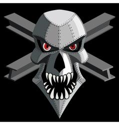 Iron skull vector