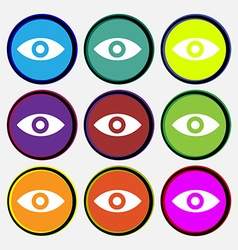Eye publish content sixth sense intuition vector