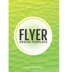 Pastel modern green polygonal brochure flyer vector