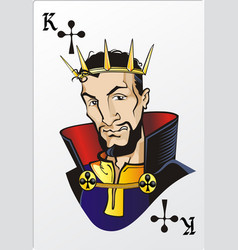King of clubs deck romantic graphics cards vector