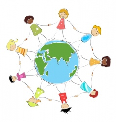Global children image vector