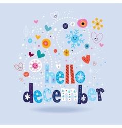 Hello december 2 vector