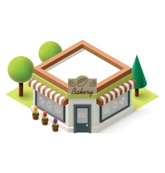 Isometric bakery vector