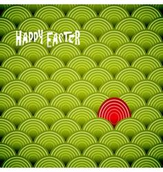 Easter green eggs vector