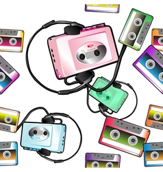 Audio tape pattern vector