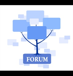 Forum tree in blue color vector
