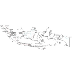 Indonesia black white map vector