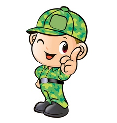 The soldiers instructions army character vector