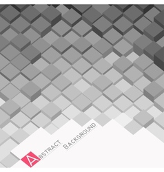 Abstract background with grey square blocks vector