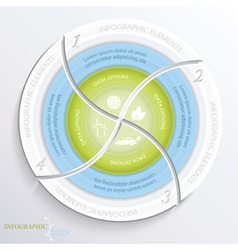 Abstract design circle infographic vector