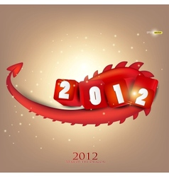Greeting card 2012 year of dragon vector