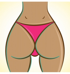 Womans buttocks vector