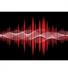 Music equaliser wave red vector