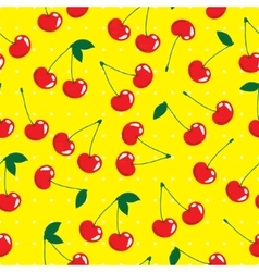 Cherry seamless pattern background vector